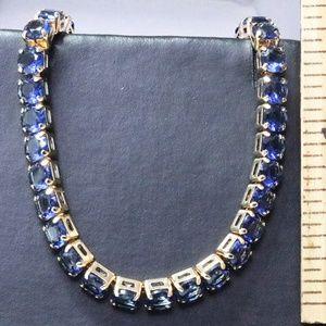 Jewelry - Vintage Blue Sapphire Yellow Gold Bracelet